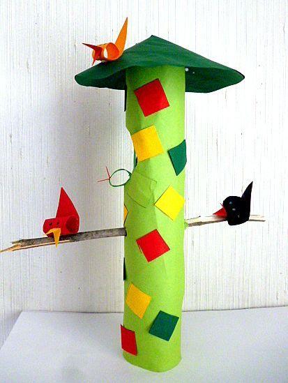 Vogelhäuschen aus Sahnetüten und Küchenrollen - Weihnachten-basteln ...