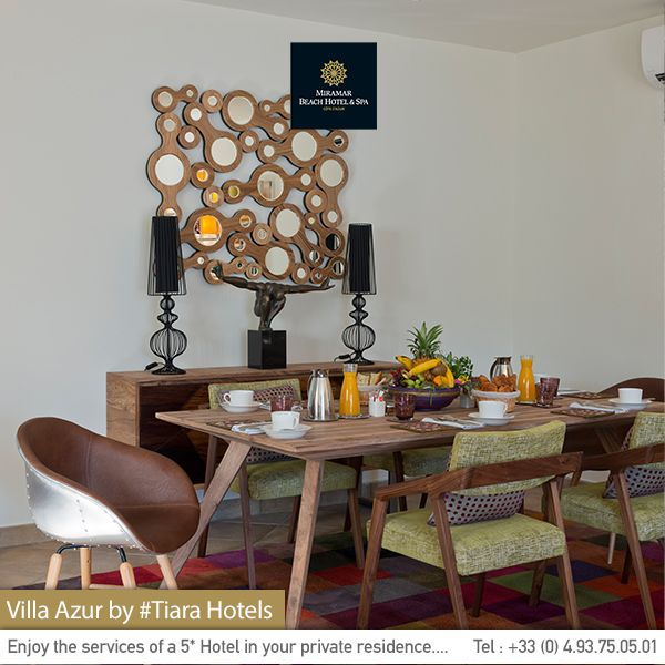 Welcome to  your #villa's dining room. Bienvenue dans la salle à manger de votre villa privée. #Cannes.