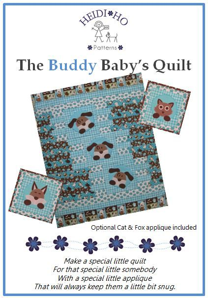 A Baby Quilt with a cute little puppy applique.