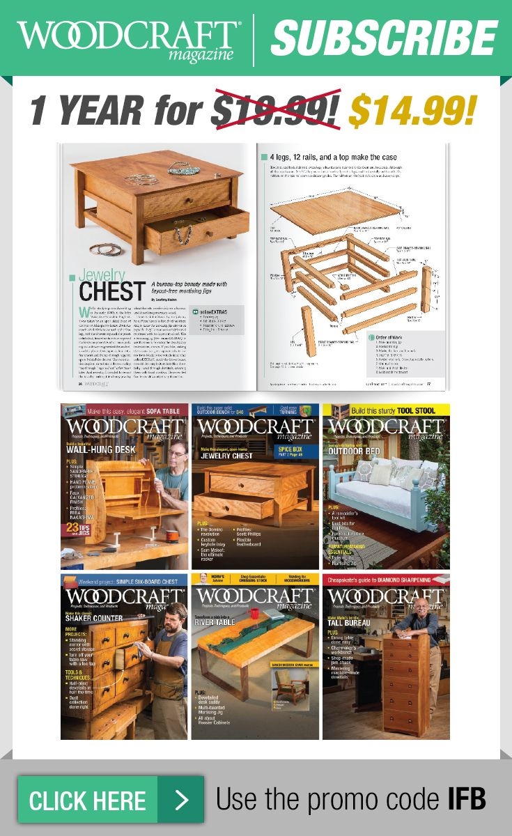 1 Year Print Subscription Friends Of Woodcraft Pinterest Wood