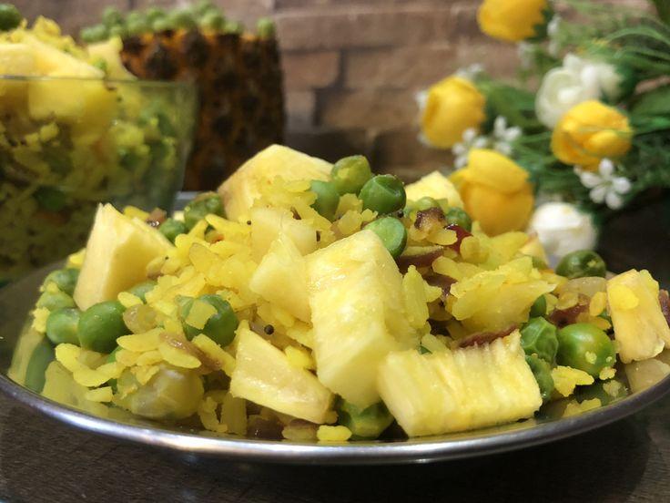 Pea Pineapple Poha - Winter Special