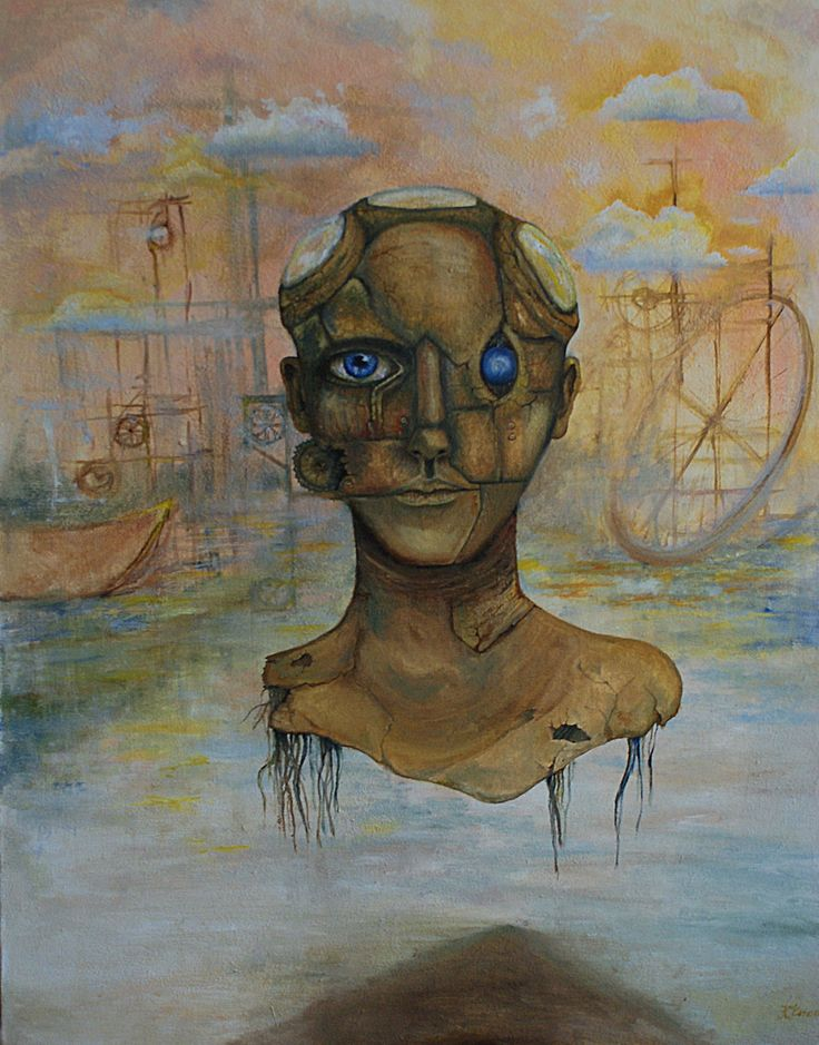 """Head over port"" 2015 , oil on canvas"