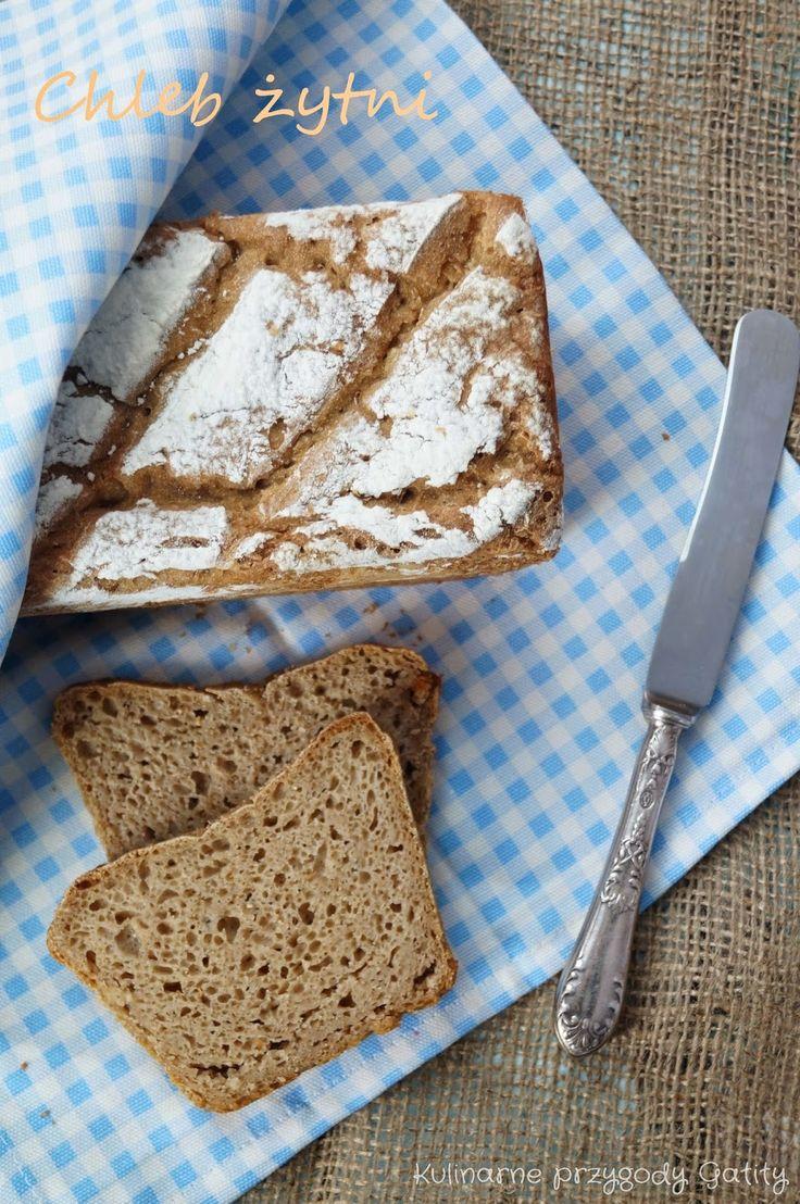 Kulinarne przygody Gatity: Najprostszy chleb żytni na zakwasie