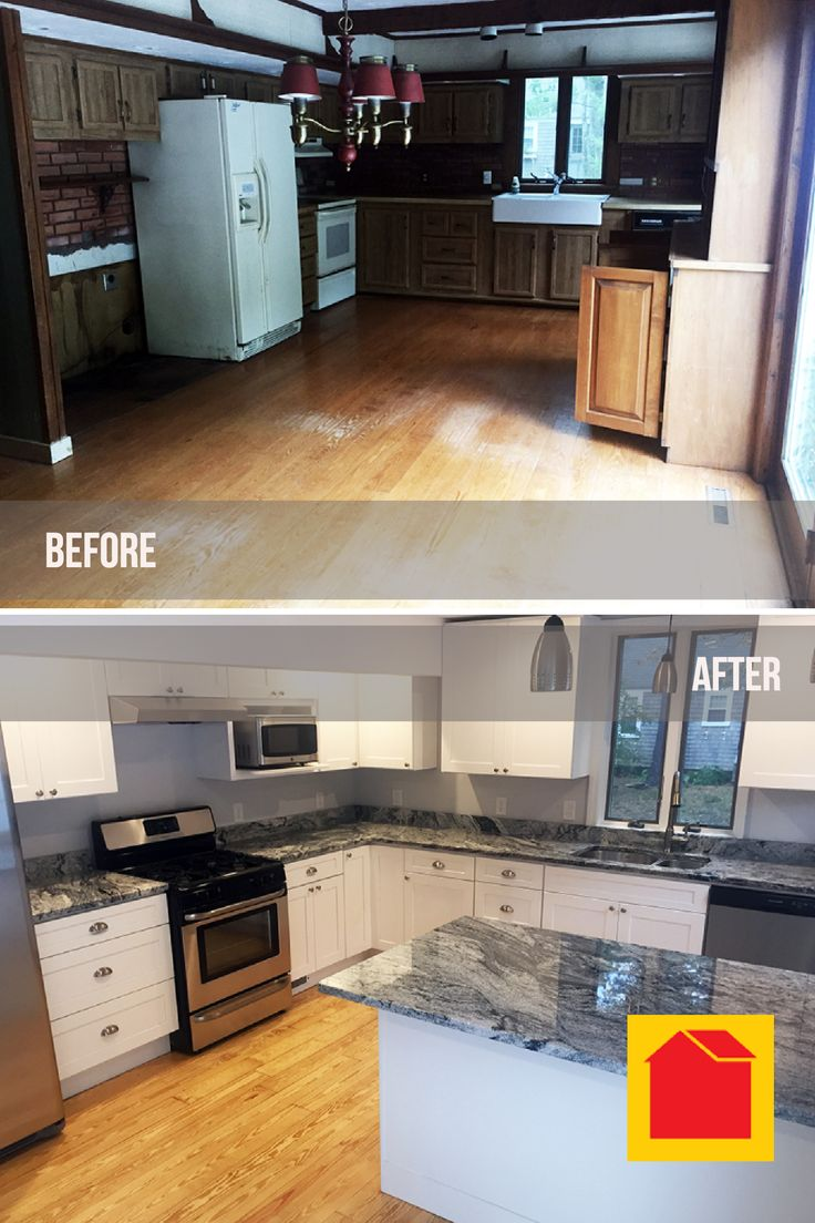 """Monthly Photo Contest kitchen remodel entry from Martin K. in New Bedford, MA.  Enter your before and after photos for your chance to win a $100 Bargain Outlet gift card. Follow the """"Photo Contest"""" link located in the footer of the Bargain Outlet website."""