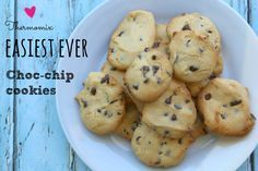 easy thermomix choc chip cookies