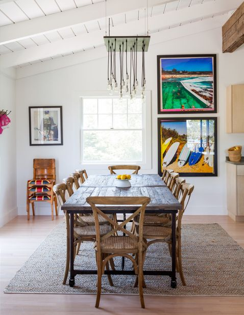 dinning room. surfboards // JACLYN PAIGE