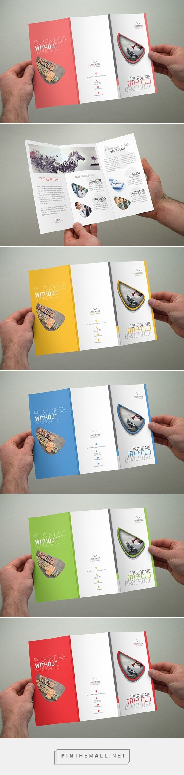 Modern Trifold Brochure on Behance... - a grouped images picture - Pin Them All