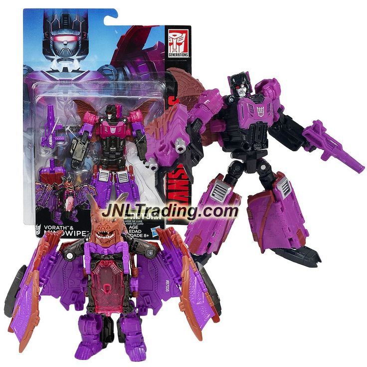 Hasbro Year 2015 Transformers Titans Return Series 5-1/2 Inch Tall Figure - VORATH & MINDWIPE with Blasters & Card (Beast Mode: Bat)