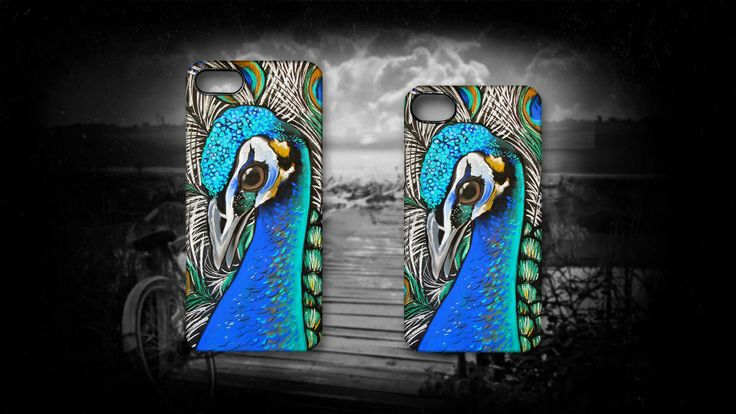 'Peacock Blue' by Sally Ford. http://www.artmobilis.com.au/shop/peacock-blue-iphone-5-case #Blue #Peacock #iPhone #Bird #Animals #Pastell #Cases #Artwork #Artmobilis