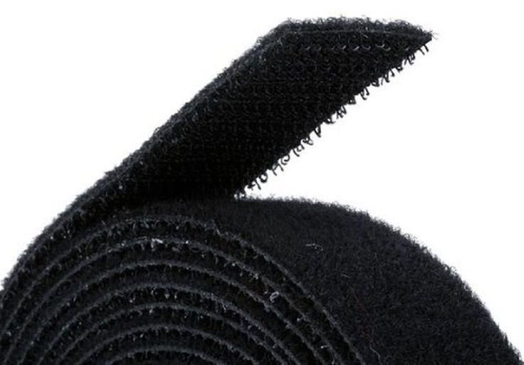 Fastening Tape 0.75-inch Hook & Loop Fastening Tape 5 yard/roll - Black #Monoprice
