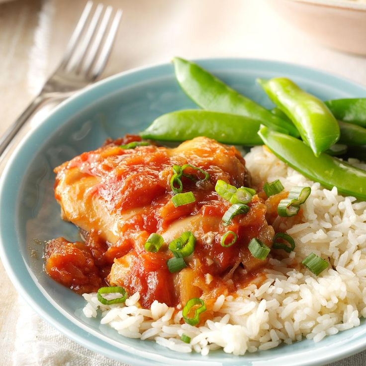 Huli Huli Chicken Thighs Recipe -I'm allergic to store-bought barbecue sauces, so when I found a marinade recipe I could use, I tweaked it a little and began using it with chicken thighs. My fiance loves this over Parmesan couscous.—Erin Rockwell, Lowell, Massachusetts