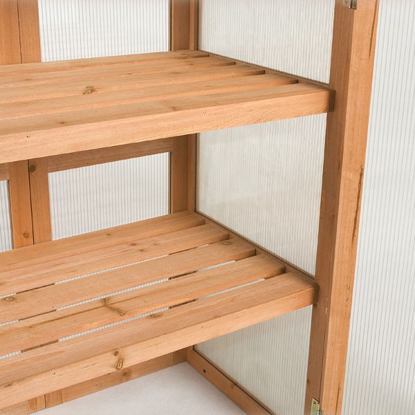 1000 images about greenhouse shelves on pinterest ForInexpensive Greenhouse Shelving Wood