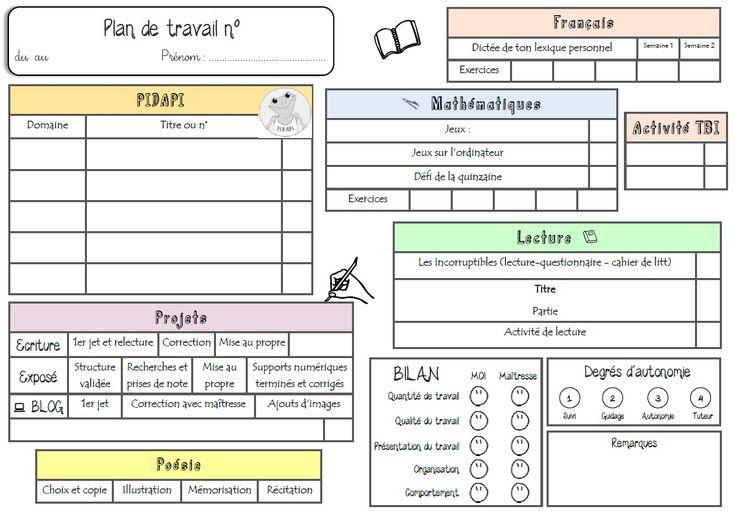 Plan de travail : PIDAPI et autres activités - Craie hâtive