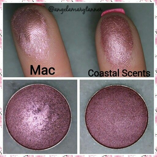 Dupes! Coastal scents spiceberry  ($2) and mac cosmetics star violet  ($16 or  $10 for the refill)