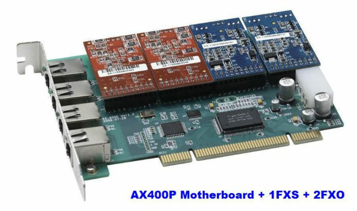 ATCOM AX400P-2O2S  Asterisk PCI PBX Analog Card With 2FXO 2FXS Support Asterisk ,Freeswitch , Dahdi , Zaptel, Elastix certified