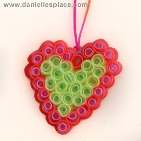 Love this.  Make jewellery and decorative ornaments with drinking straws - DIY perler beads! Why pay for perler kits when you can prevent plastic straws from ending up in landfills? Recycle it baby!