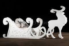 Картинки по запросу новогодние сани в упряжке с конями