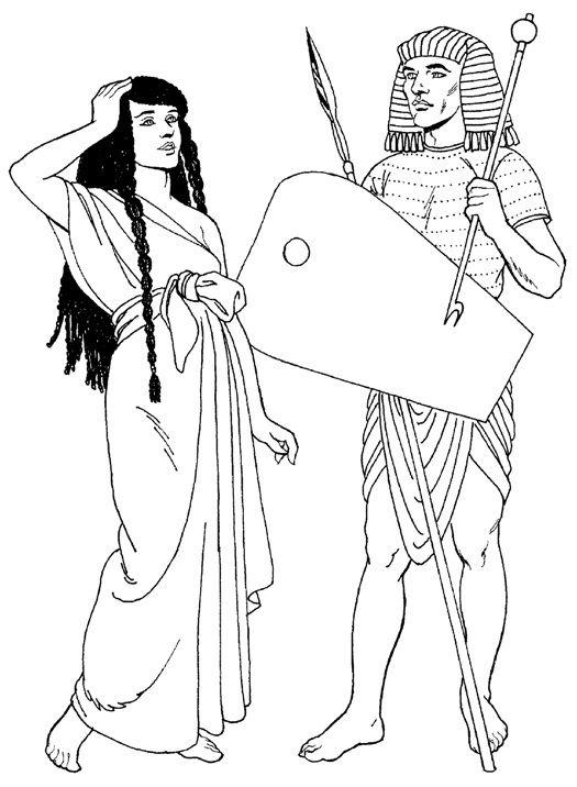 целом, раскраска египетский воин поскольку