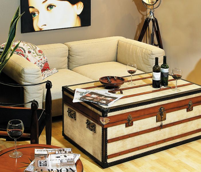 Polo Club Trunk, Small Ideal As Coffee Tables, Combining Storage With  Functionality And Design! Every Trunk Carries Two Sliding Trays Painted In  Signal Red.