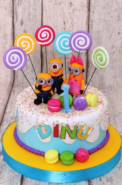 Torturi - Viorica's cakes: Tort candy cu minioni