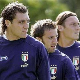 Christian Vieri ,Alessandro Del Piero y Francesco Totti.