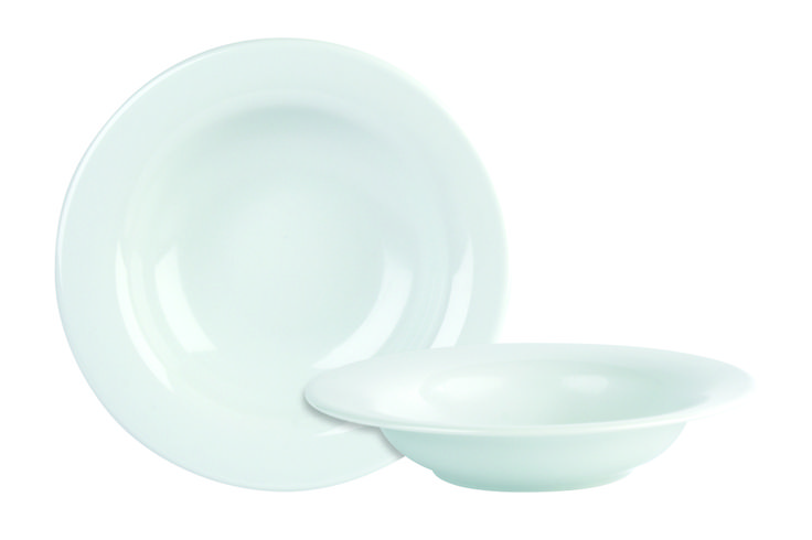 White banqueting bowls - Porcelite