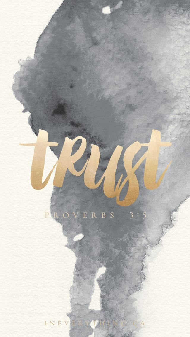 Get this free download to remind you to Trust, featuring Proverbs 3:5 Tech Tuesday downloads are free for your iphone, ipad and desktop | Motivation for being a spiritual gangster