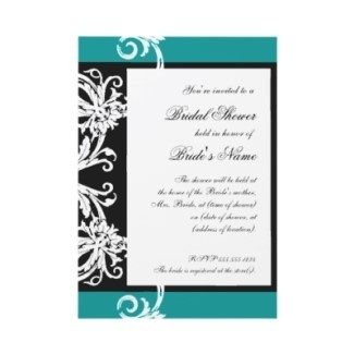 black and white and teal bridal shower decorations - Google Search