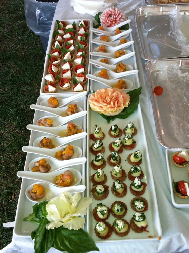 Hors d 39 oeuvres party ideas pinterest presentation for Canape display stands