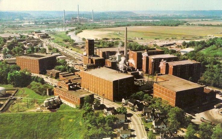 Whiskey City, Lawrenceburg, Indiana.  The Seagrams plant.