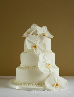 exotic cake with orchids love it!!