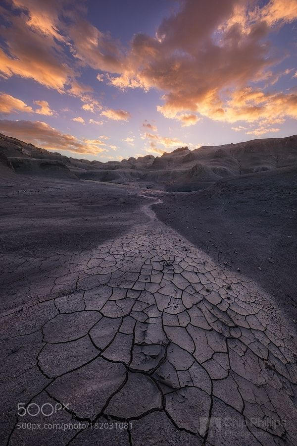 Cracked Mud and Fossils-Desert Sunrise by phillips_chip. Please Like http://fb.me/go4photos and Follow @go4fotos Thank You. :-)