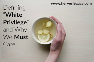 """I want to quickly define """"white privilege"""" and give some simple examples to help clarify, what can be, a confusing concept. Especially to those of us living under it. www.heryeslegacy.com"""