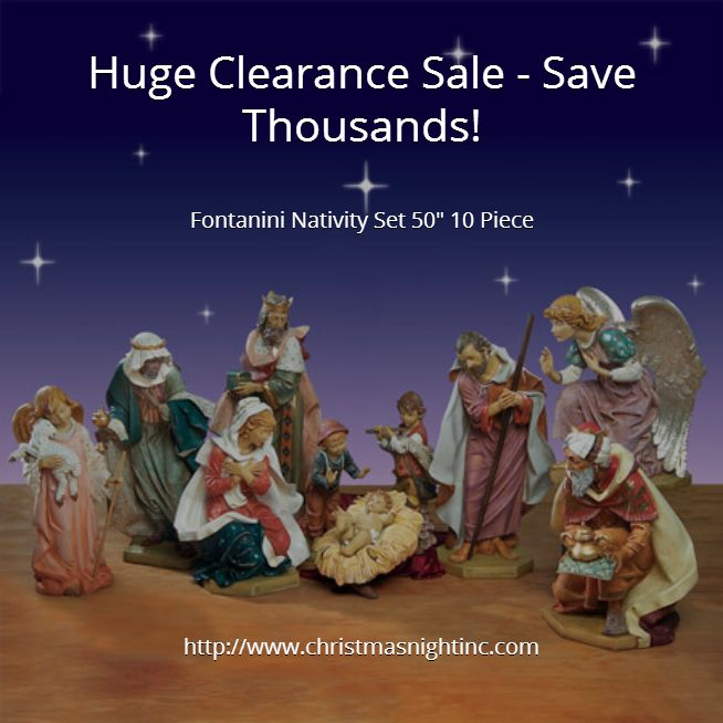 huge clearance sale save thousands fontanini nativity. Black Bedroom Furniture Sets. Home Design Ideas