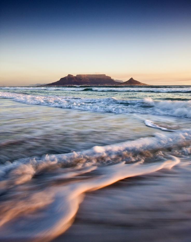 Table Mountain at sunset. #Tablemountain #SouthAfrica #Sunset #beauty