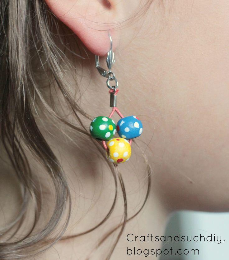 Colourful Beaded Earrings // Gift Idea
