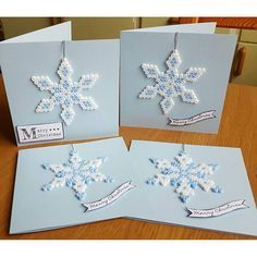 Christmas cards hama perler beads by geekofmine
