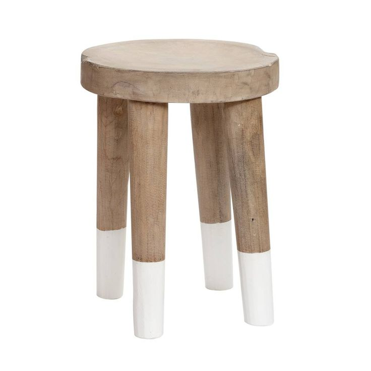 KRUK, HOUT (naturel/wit) - GASPARD webshop: www.gaspard-by-cl.be