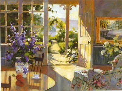 Marilyn Simandle, American Artist... The open door to the sun beckons me.