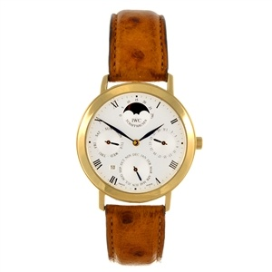 18k gold IWC - stylish vintage watch