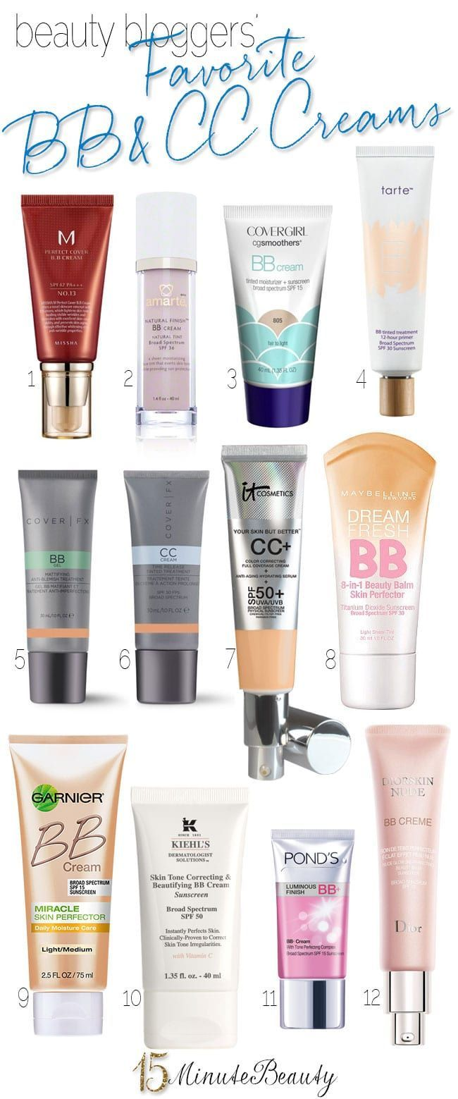 Beauty Blogger Favorite Bb And Cc Creams 15 Minute Beauty Fanatic In 2020 Cc Cream Cc Cream For Oily Skin Bb Cream For Oily Skin