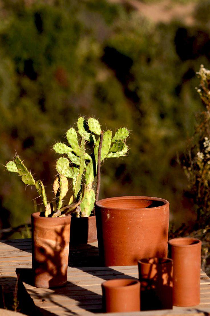 Maceteros para el jardín, greda de Pomaire. Chilecaray