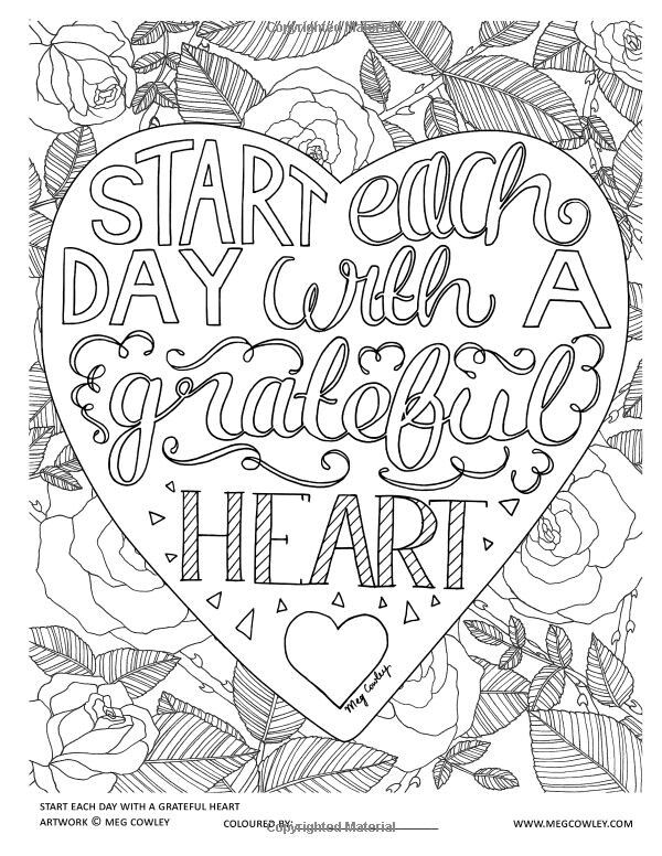 Grateful Coloring Picture Coloring Coloring Pages Coloring