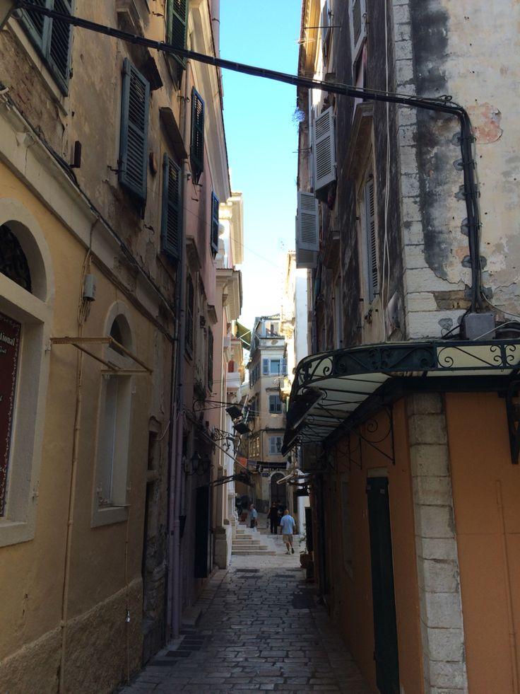 Corfu,kerkyra,oldtown,citycenter,summer,holiday,nice,lovely,street,small.
