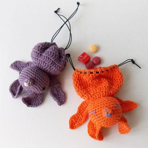 Lexie The Bat  Amigurumi Goodie Bag Crochet by irenestrange, $5.00