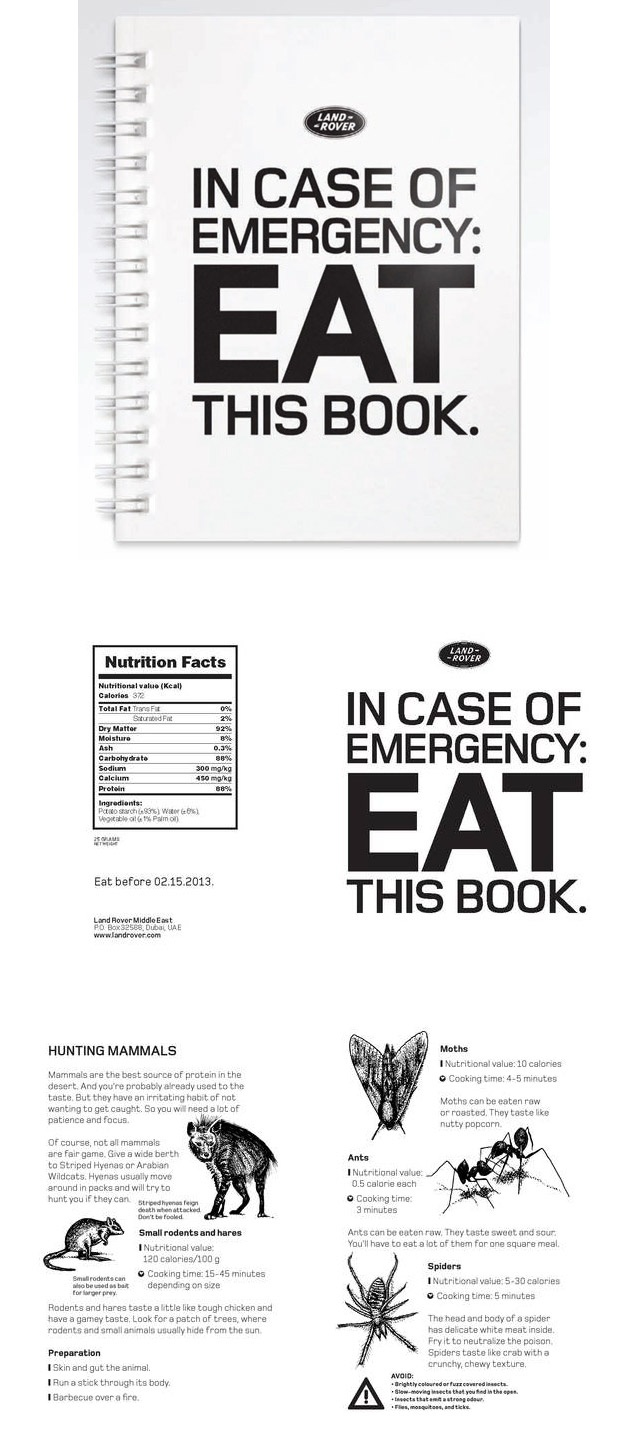 Land Rover Emergency book