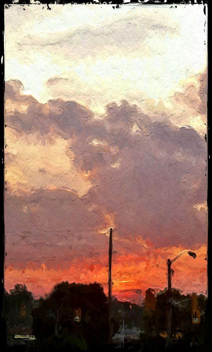 Urban Sunset, Chemong Road - Peterborough, Ontario, Canada ©NoticePictures