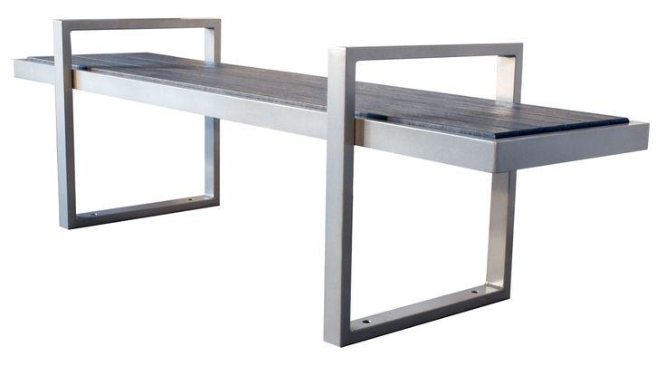 #Skyline straight #bench #sitefurniture #design #madeincanada