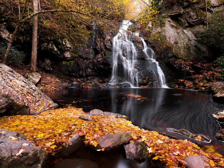10 Best Weekend Backpacking Trip in Tennessee...Great Smoky Mountains National Park Waterfall.