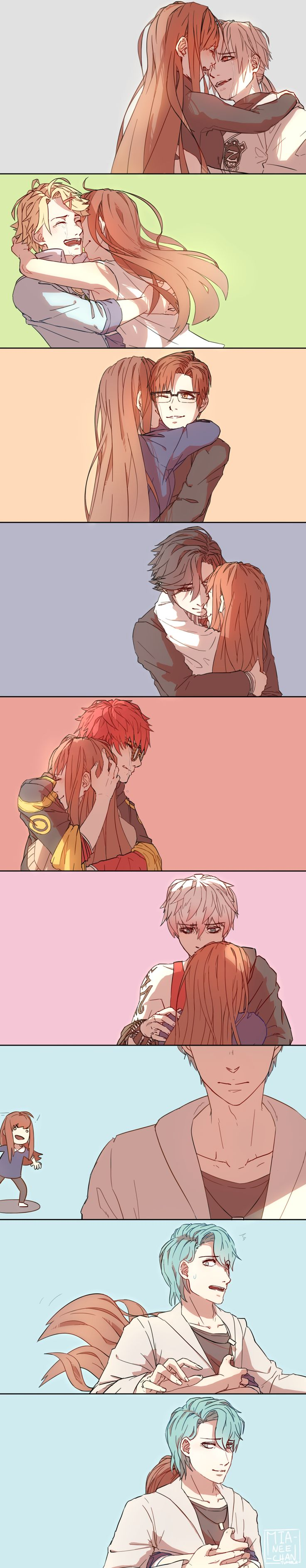 Just want to hug them all~ Mystic Messenger (by miamitu)